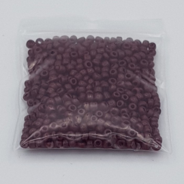 8 gram glaskraaltjes  mat bruin 2 mm