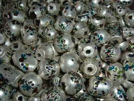 100 gram luxe grote zilverkleurige glasmix