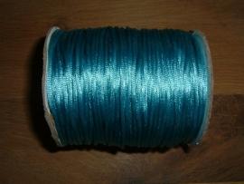 Satijnkoord in een mooie aquablauwe kleur