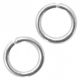 50 Stuks (RVS) Stainless steel onderdelen buigringen 4mm Antiek zilver