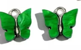 Bedel vlinder zilver Groen