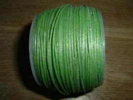 Waxkoord in een mooie varengroene metallic kleur 0.5 mm.
