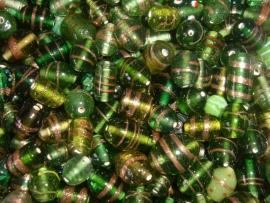100 gram bewerkte groene glasmix