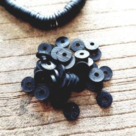Katsuki kralen zwart 6 mm.