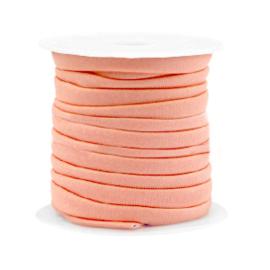 Gestikt elastisch lint Zalm Roze