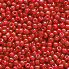 Glaskralen Rocailles 2 mm Crimson Red 20 gram