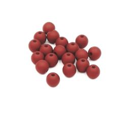 50 stuks Acryl kralen mat donker aubergine rood/bruin 8mm.
