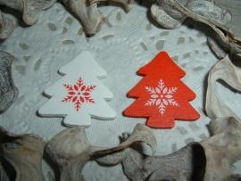 Superleuke kleine houten kerstboompjes