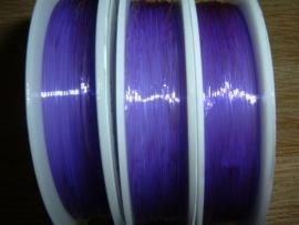 Elastisch nylondraad donkerpaars 0.6 mm.