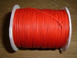 Waxkoord rood 1.0 mm.