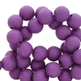 4 mm acryl kralen matt Imperial purple