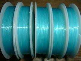 Elastisch nylondraad turqoise 0.6 mm.