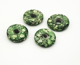 Mooie grote gemarmerde munt kralen in verschillende kleuren 25 mm.