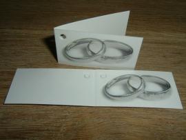 Mini kaartjes ringen zilver