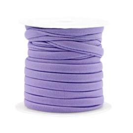 Gestikt elastisch lint Donker Paars