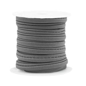Gestikt elastisch lint Donker grijs