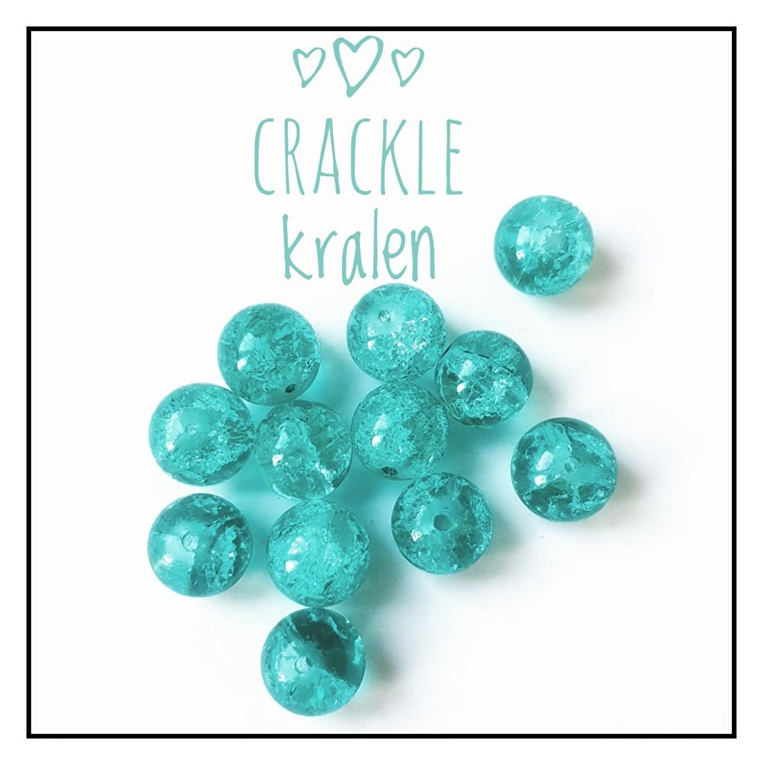 Crackle glas kralen
