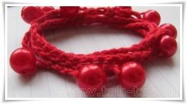 MAAK-HET-ZELF-Pakket (ketting-armband D rood)