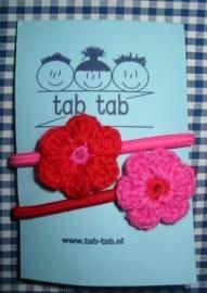 StoereStaartjes  roze - rood B6