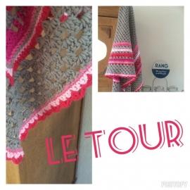 Le Tour, patroon omslagdoek