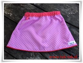 Lieffies(rokje roze-rood stip)