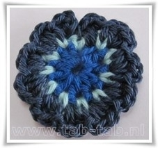 Bloem4 B12 kobalt-turquoise-donkerblauw