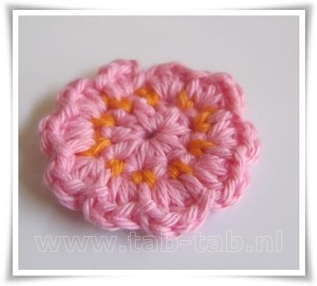 Bloem4 B10 l roze-oranje-l roze