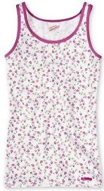 Roze bloemetjes hemd 104