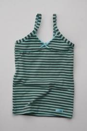 Groen-donkergroen gestreept hemd
