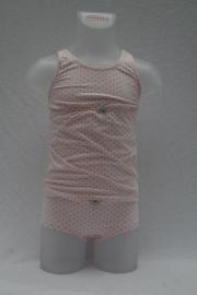 Roze met grijze stippen hemd 128 140