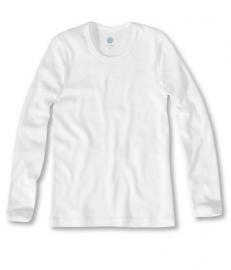 Wit hemd met lange mouwen van biologisch katoen