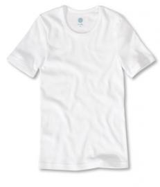 Nauwsluitend wit hemd van biologisch katoen