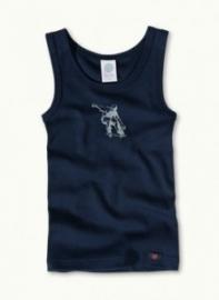Blauw skate-hemd van biologisch katoen 104 116 128