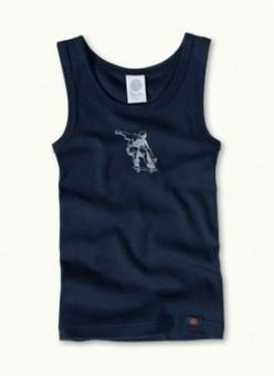 Blauw skate-hemd van biologisch katoen