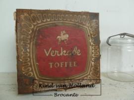 Oud Verkade toffeeblik *