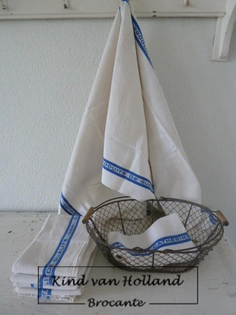 Franse doek blauw/wit *