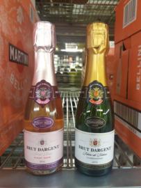 Flesje Brut d' Argent  ( klasse schuimwijn, gelijk cava of champagne )