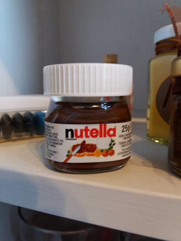 Kleine nutella potje 25 gr