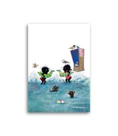 Jip en Janneke gaan zwemmen
