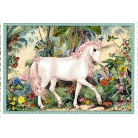 Unicorn glitterkaart