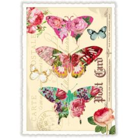 Drie vlinder kaart