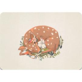 Hertje met konijntje kaart