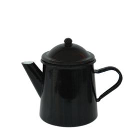 Emaille koffiepot - zwart