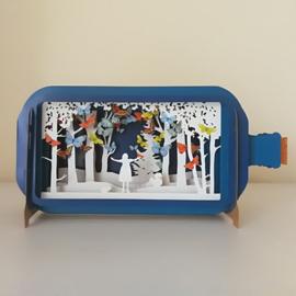 3D pop-up kaart - Feestelijke vlinders