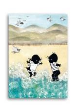 Jip en Janneke gaan naar het strand kaart