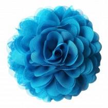 Chiffon bloemcorsage - Turquoise