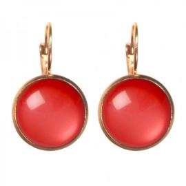 Oorbellen Dots - Glossy Aurora red gold