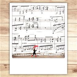 Met muziek kaart