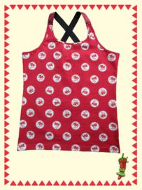 Mrs. Pepper - Bloemen top rood