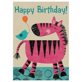 Happy pink zebra birthday